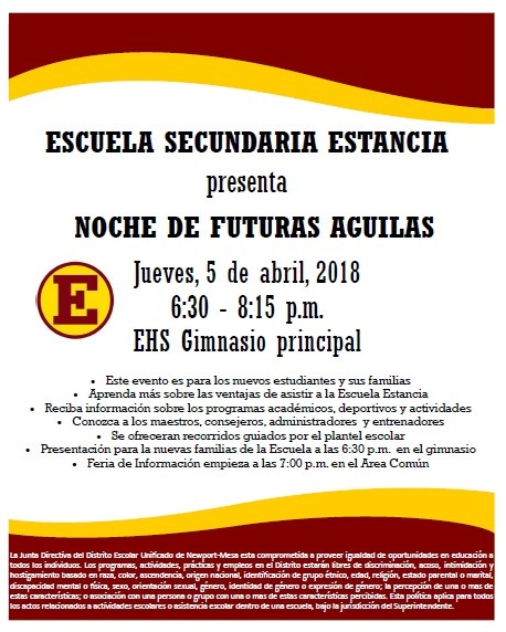 eagle night flyer-spanish
